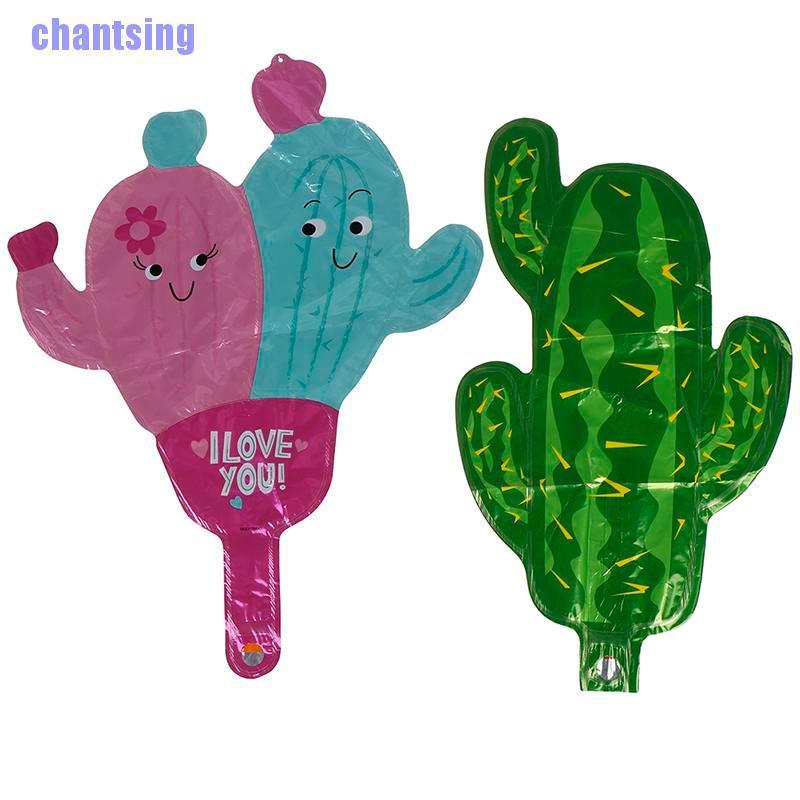 Hanpro < Mini Green Cactus ลูกโป่งฟอยล์สําหรับตกแต่งงานปาร์ตี้