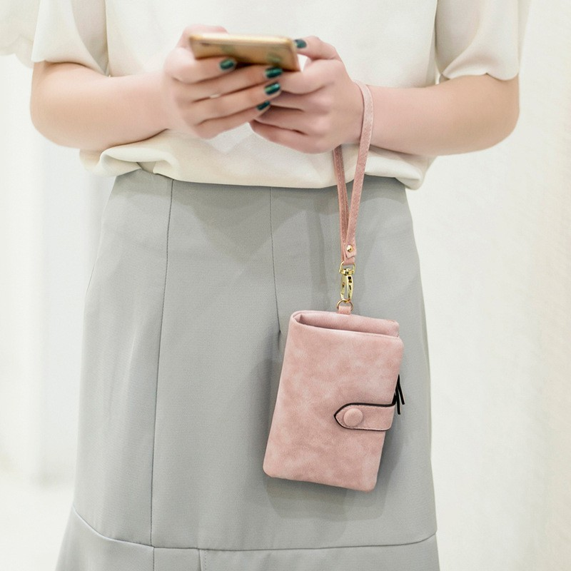 กระเป๋าสตางค์ใบสั้น หนังนิ่ม สำหรับผู้หญิง