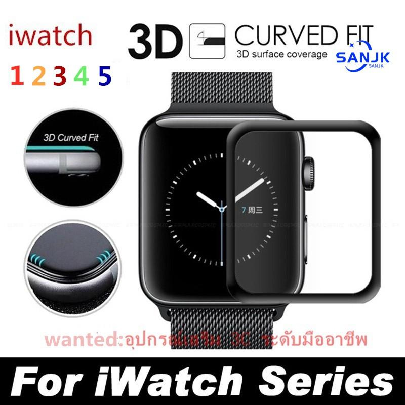 🔥ฟิล์มกระจก applewatch 💯% ⌚️ฟิล์มกระจกพิเศษสำหรับ Apple Watch series 5,4,3,2,1 (38,40,42,44 mm.) 3D curve fit, very easy to apply.