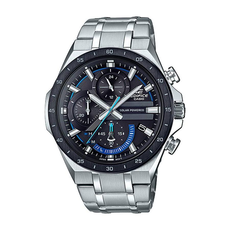Casio Edifice นาฬิกาข้อมือผู้ชาย สายสแตนเลส รุ่น EQS-920DB,EQS-920DB-1B (CMG) - สีเงิน