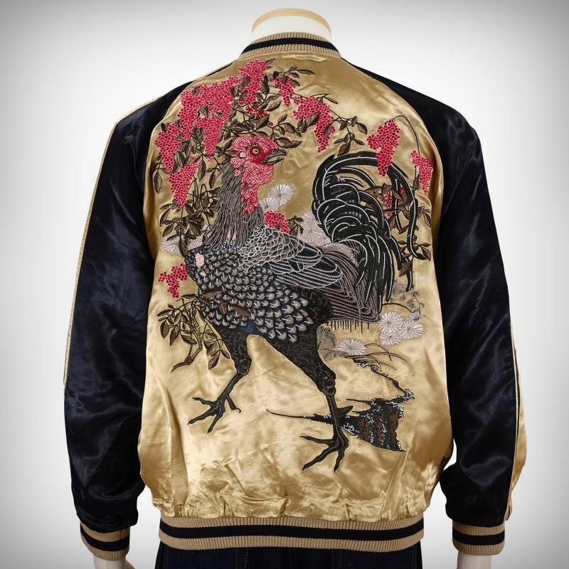 SUKAJAN แบรนด์แท้ญี่ปุ่น Japanese Souvenir Jacket แจ็คเกตซูกาจันลาย Rooster