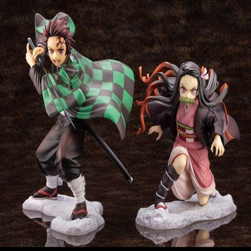 Demon Slayer Kimetsu no Yaiba Artfx J Nezuko Kamado Tanjiro Kamad PVC Action Figure Anime Figure Model Toys
