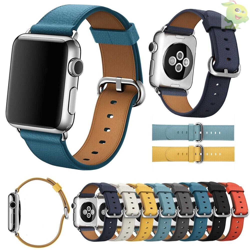 สายนาฬิกาข้อมือหนังสําหรับ Applewatch Series 5 4 3 2 1, And The Size Is 38mm 40mm 42mm 44mm