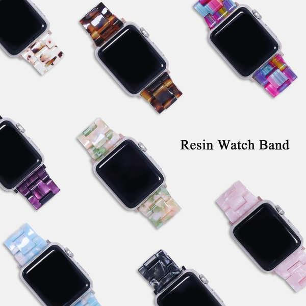 สาย applewatch ใช้ได้กับ iwatch6 / SE น้ำหอมขนาดเล็กสายเรซินสร้างสรรค์สาย Applewatch สาย Apple 12/3/4/5
