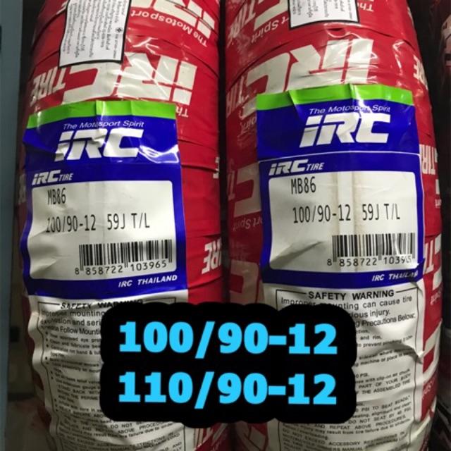 ยางนอก IRC สำหรับรถมอเตอร์ไซค์ เบอร์ 100/90-12 และ 110/90-12 ใช้กับรถรุ่น zoomer-x,scoopy-i , Fino