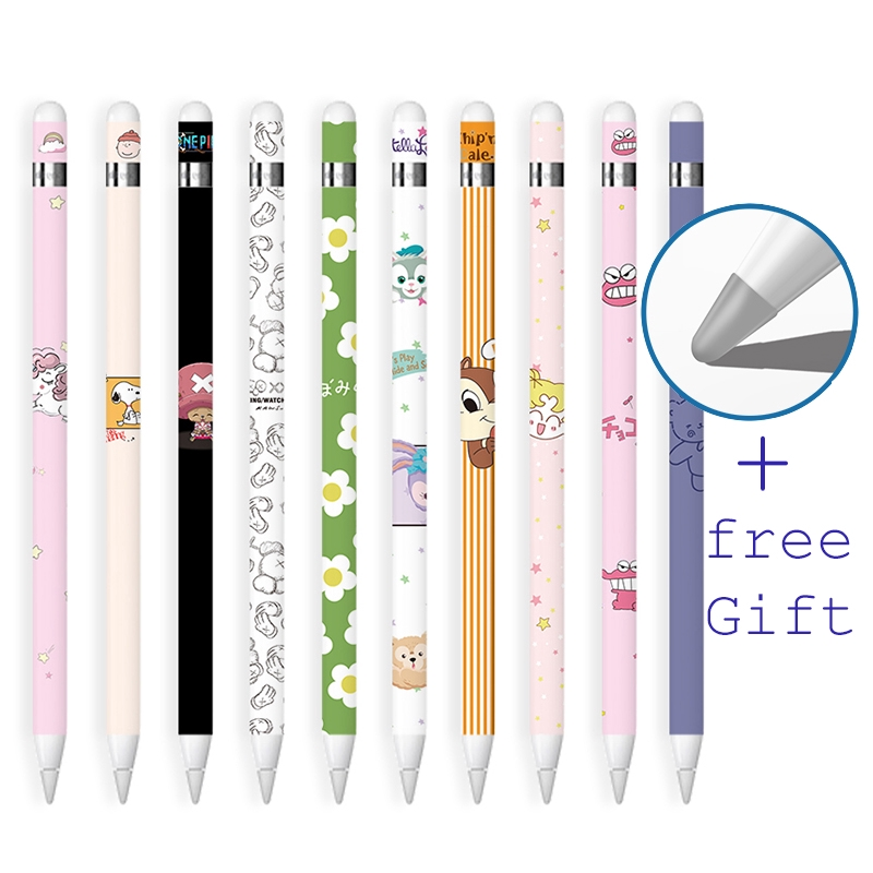 3 Pcs Apple Pencil Gen 1 Stickers iPad Pen Protective Paper Ultra Thin Cartoon Painted Touch Stylus pen Sticker