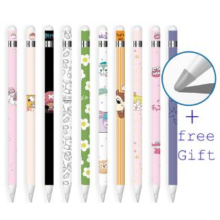 3 Pcs Stickers For Pencil Gen 1 For iPad Pen Protective Paper Ultra Thin Cartoon Painted Touch Stylus pen Sticker