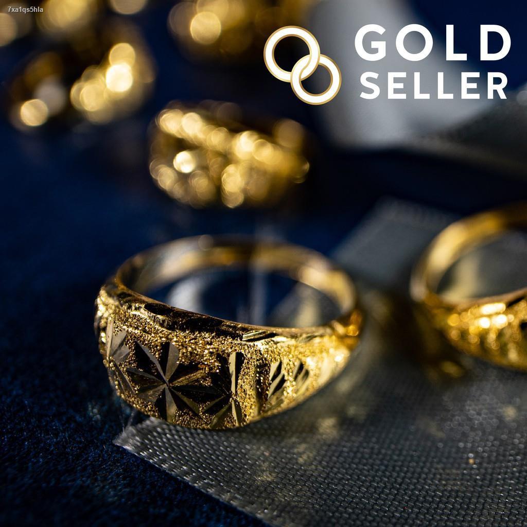 ราคาต่ำสุด✒Goldseller แหวนทอง หัวโปร่ง ครึ่งสลึง คละลาย ทองคำแท้ 96.5%