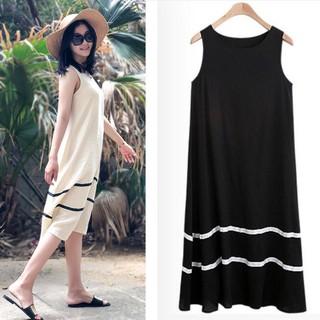 5431b484d288e Milk Silk Vest Dress 2019 Summer Female Loose Tank Dress Panel Was Thin  Dress