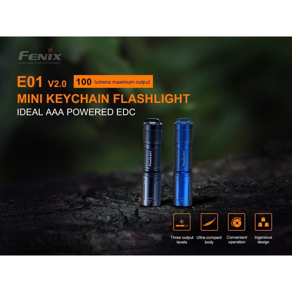 ไฟฉาย Fenix E01 V2.0 Mini EDC สินค้าตัวแทนในไทยประกันส่งซ่อม 3ปี