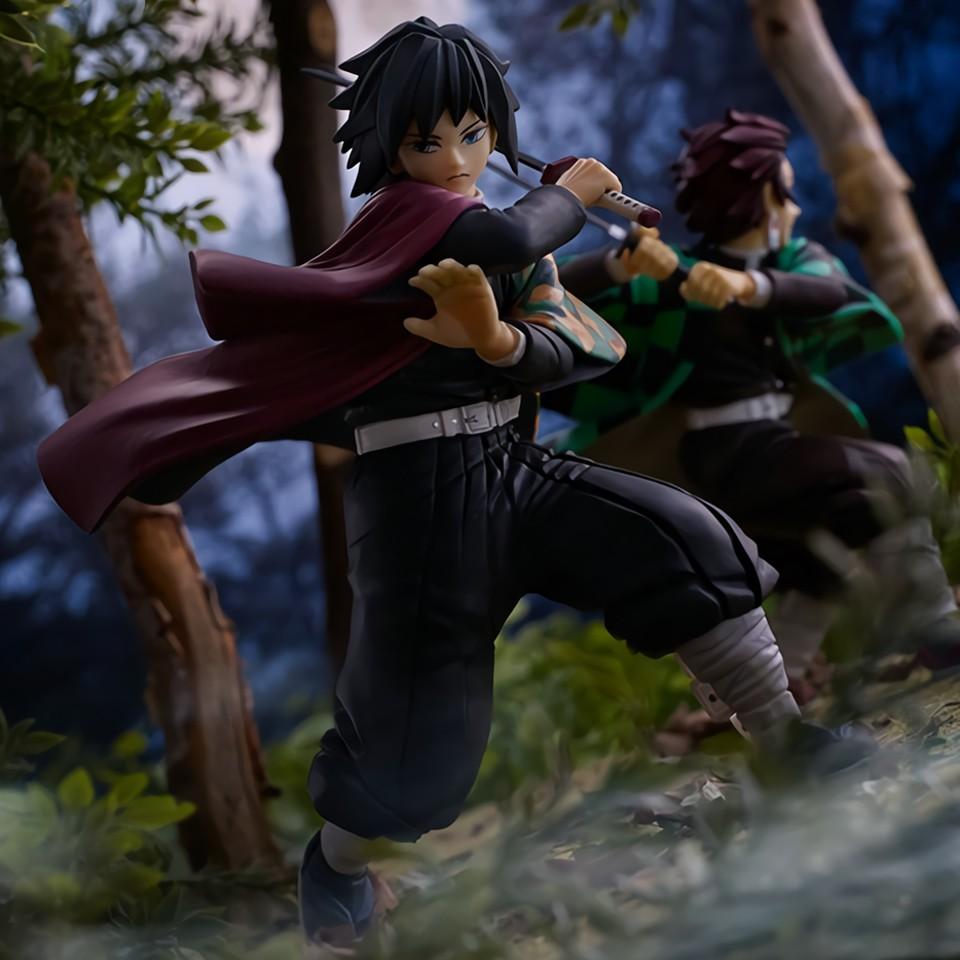 Tronzo Original Banresto Ichiban Kuji Demon Slayer Kimetsu no Yaiba Kamado Tanjirou Tomioka Giyuu VC Action Figure Model