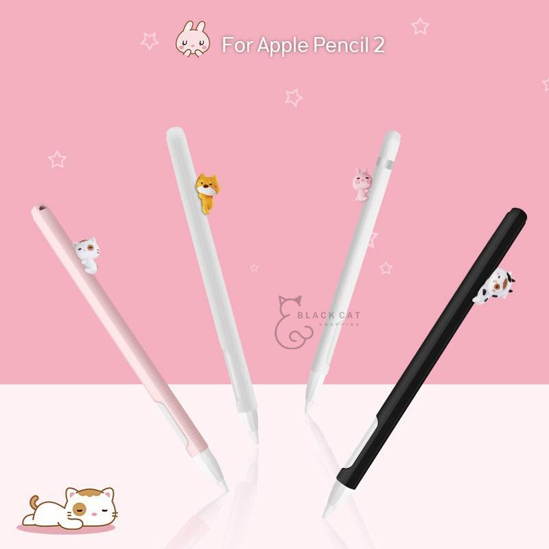 📣✅💯▤โค้ดลด10% Apple pencil Case 2in1 (Gen2) ปลอกปากกา รูปการ์ตูน เคสซิลิโคน กันหาย เคส