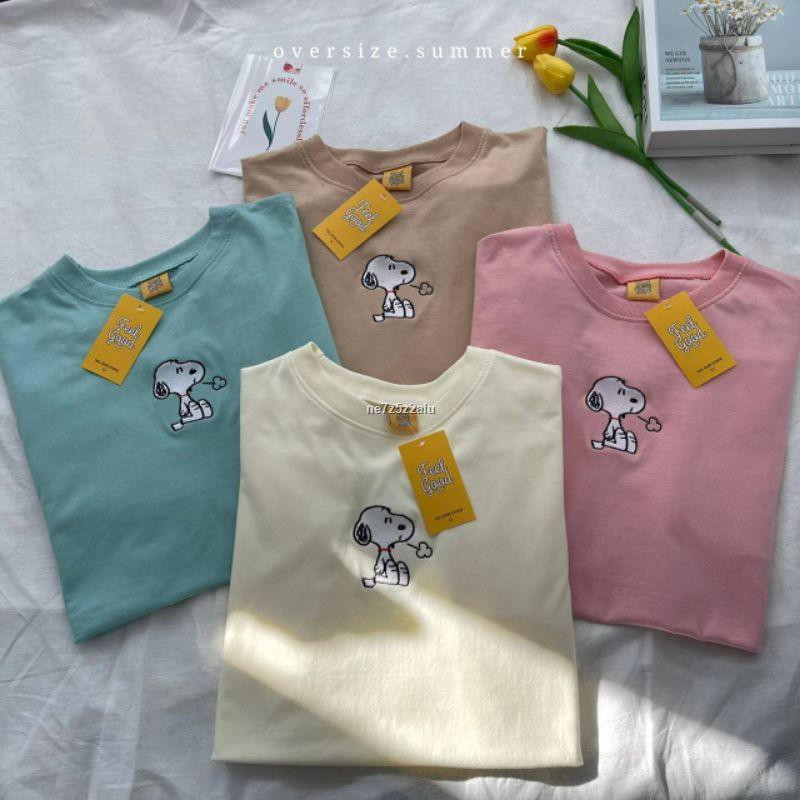 ราคาขายส่ง☜❏[oversize summer] เสื้อยืด Oversize - สนูปปี้ (พร้อมส่ง)