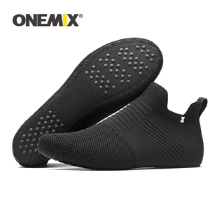 กรุณาชำระเงินด้วย CODONEMIX Socks Shoes for Men Slip-on Inner High-elastic Knitted Lightweight Man Indoor Hosiery Non-sl
