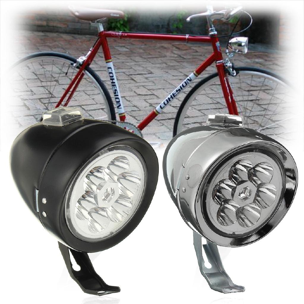 Retro Vintage Bicycle Bike LED Front Head Light Headlight Bike Headlamp Fog Lamp