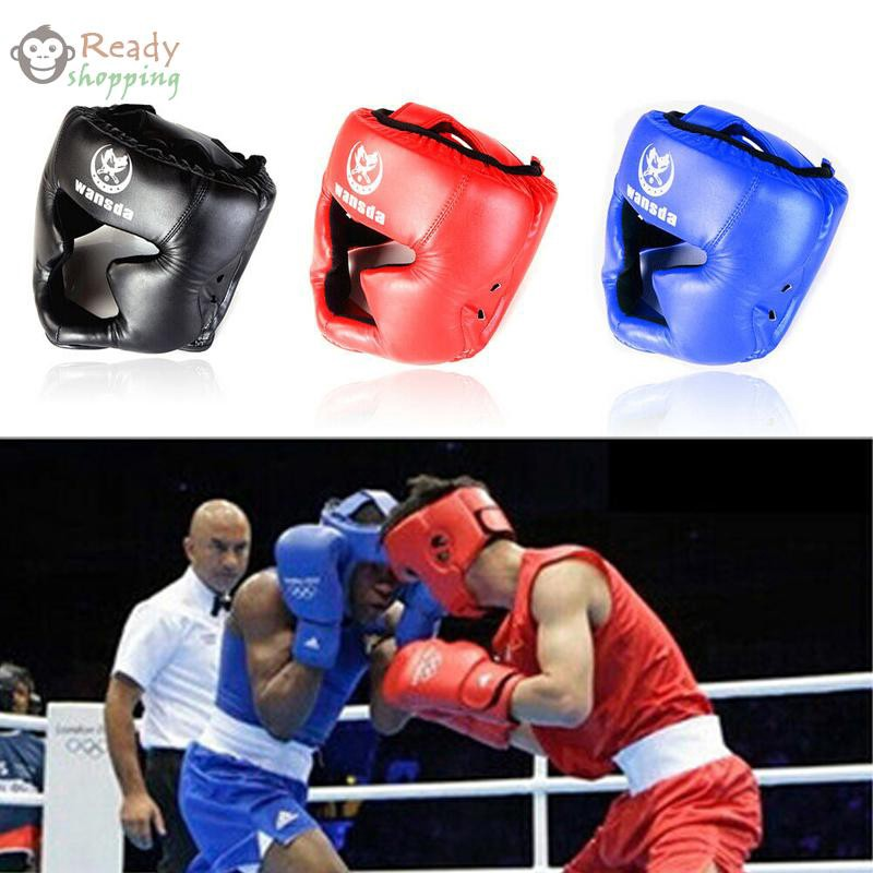 1 Pc Boxing Training Head Face Protective Gear Helmet Headgear Guard PU Hot
