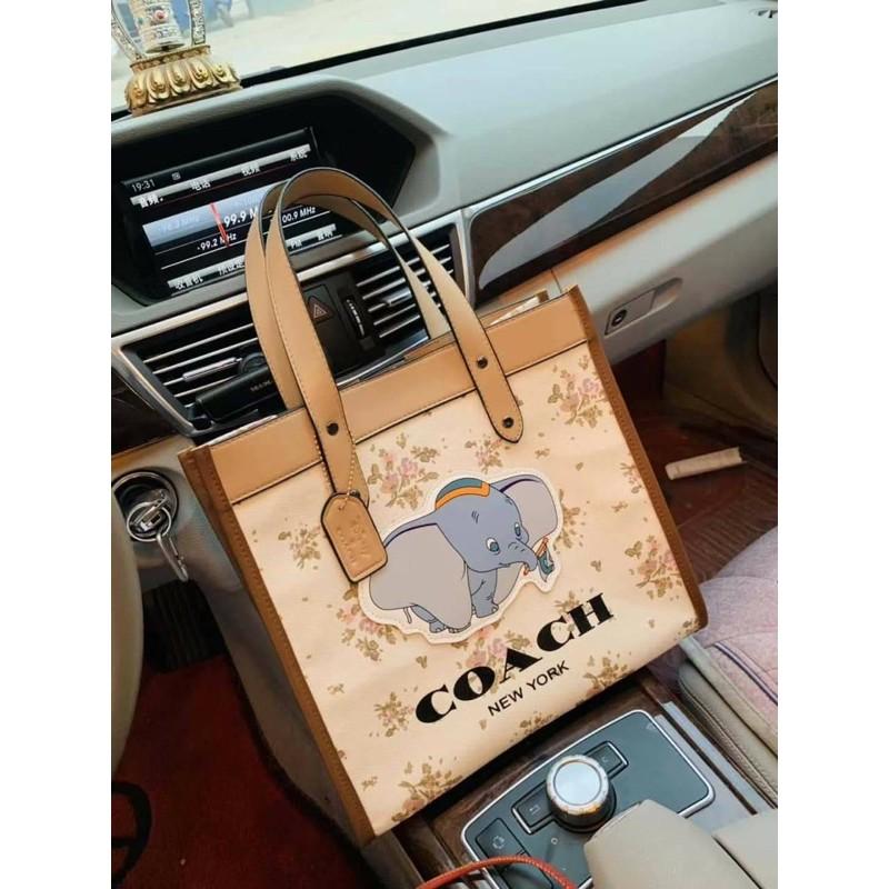 🔥กระเป๋า Coach Dumbo รุ่นใหม่ล่าสุด Limited เลยจ้างานผ้าแคนวาสกันน้ำ งานพรีเมี่ยม💎
