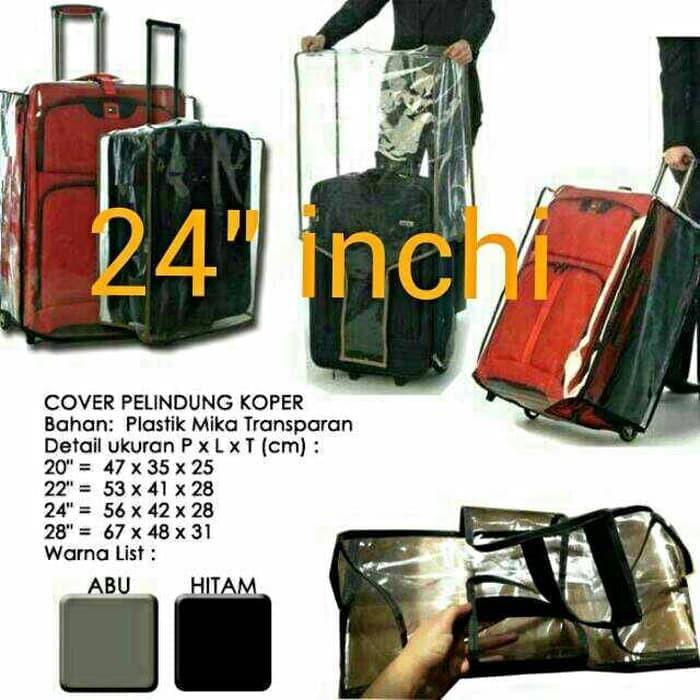 ผ้าคลุมกระเป๋าเดินทางแบบใสขนาด 24 นิ้ว - 24 นิ้ว