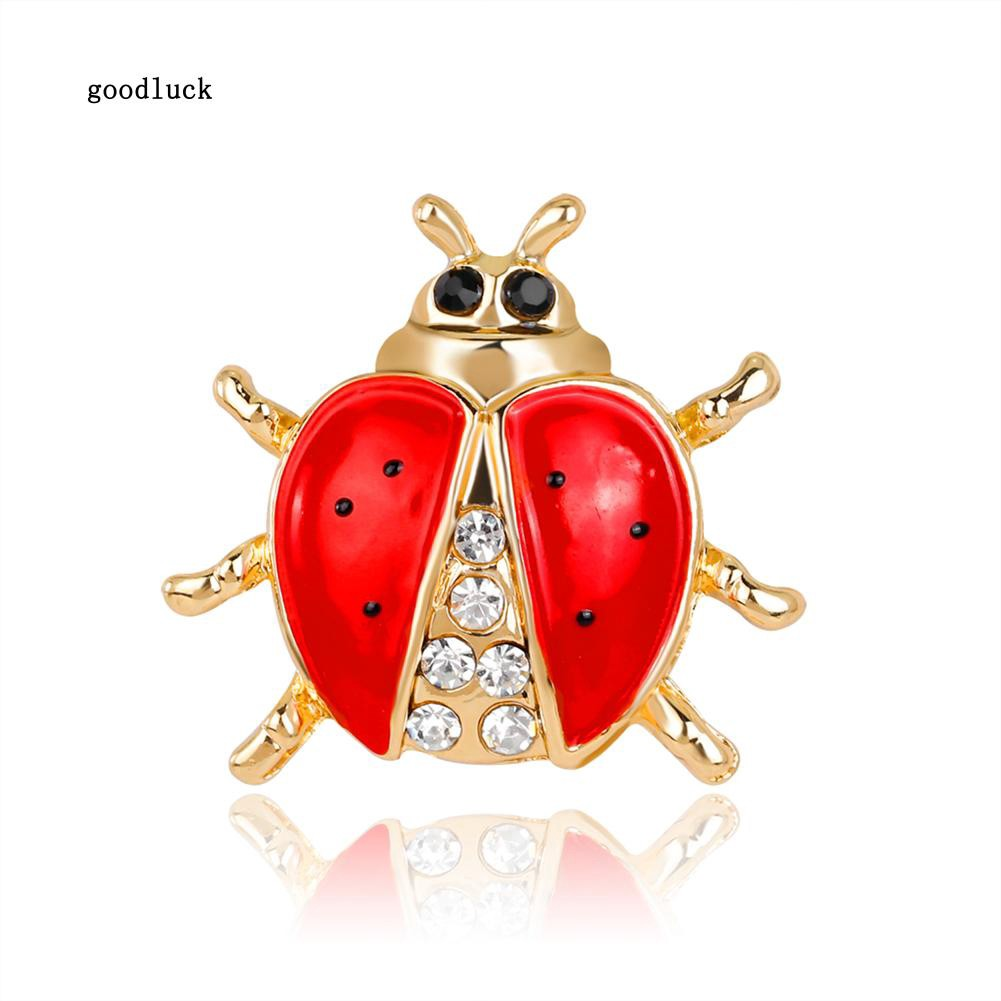 7a10ad12c05 GLK_Shiny Rhinestone Animal Christmas Red Locust Party Brooch Pin Exquisite  Gift