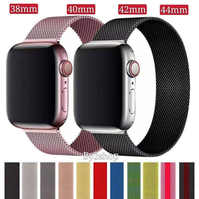 สำหรับ AppleWatch Band Milanese Loop Series 1 2 3 4 5 6 44 มม 40 มม 38 มม 42 มม สาย สำหรับ applewatch 6 se 4.7