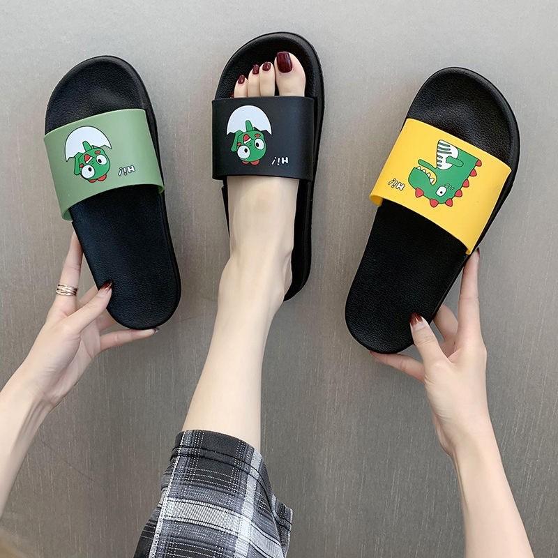 รองเท้าคัชชูผู้ชาย รองเท้าชาย รองเท้าแตะ รองเท้ารัดส้นผู้ชาย รองเท้ารัดส้น รองเท้าแตะ รองเท้าแฟชั่น ลายไดโนเสาร์ พื้นดำ
