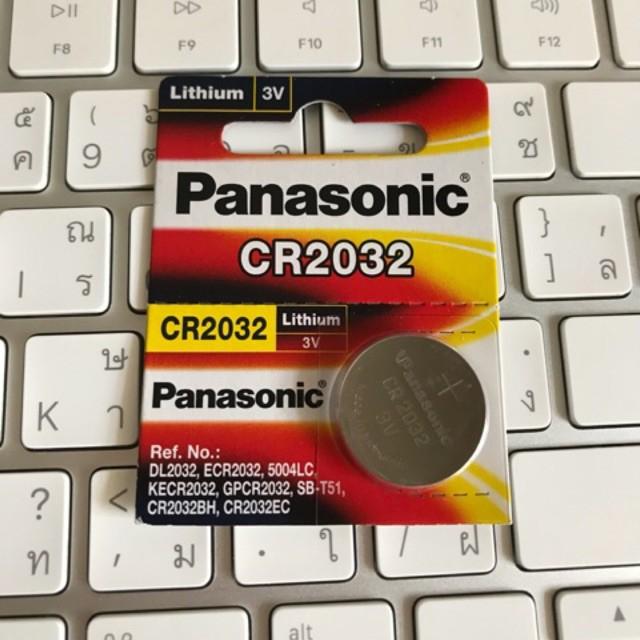 CR2032 PANASONIC ถ่านลิเทียม แบ่งขาย จำนวน 1 ก้อน สินค้าของแท้จากศูนย์พานาโซนิคไทย