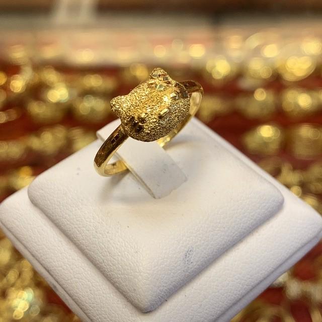 🌻💋📣♧✑PGOLD แหวนทองครึ่งสลึง แมวแฟนซี หนัก 1.9 กรัม ทองคำแท้ 96.5% มีใบรับประกัน