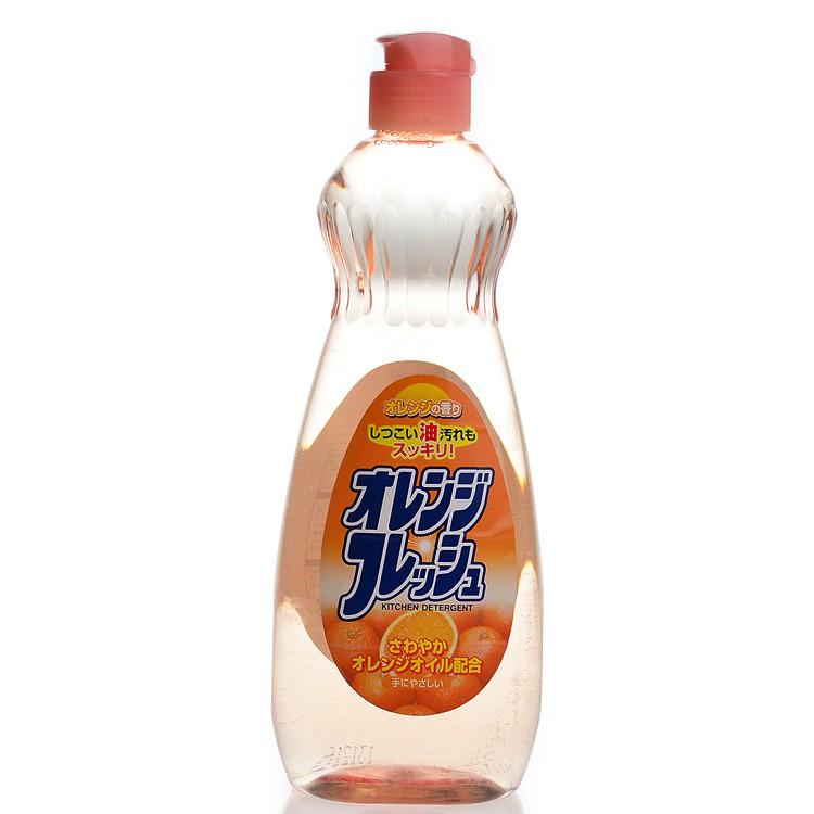 ผงซักฟอกจรวดญี่ปุ่นล้างไขมันในครัวน้ำยาล้างจานน้ำยาล้างจานผลไม้รสส้ม