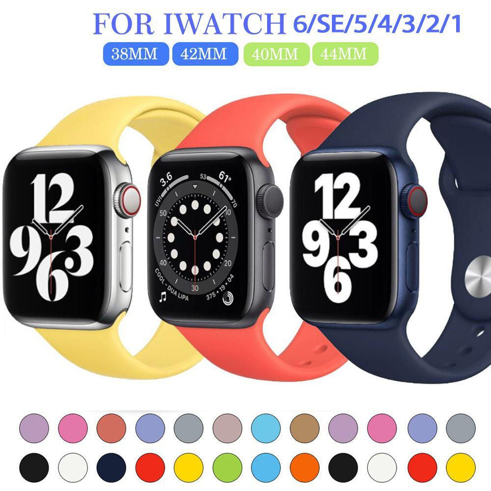 นาฬิกาข้อมือสายซิลิโคน สาย applewatch 38 มม. 42 มม 40มม 44มม iwatch series se 6 5 4 3 2 1สายนาฬิกา