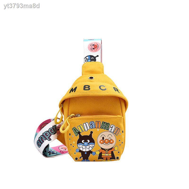 【กระเป๋าเป้】✱ผ้าใบการ์ตูนน่ารักกระเป๋าใบเล็กกระเป๋าหน้าอกเด็ก แสงทั้งหมดตรงกับกระเป๋าเดินทางกลางแจ้งแฟชั่นสาวกระเป๋าเ