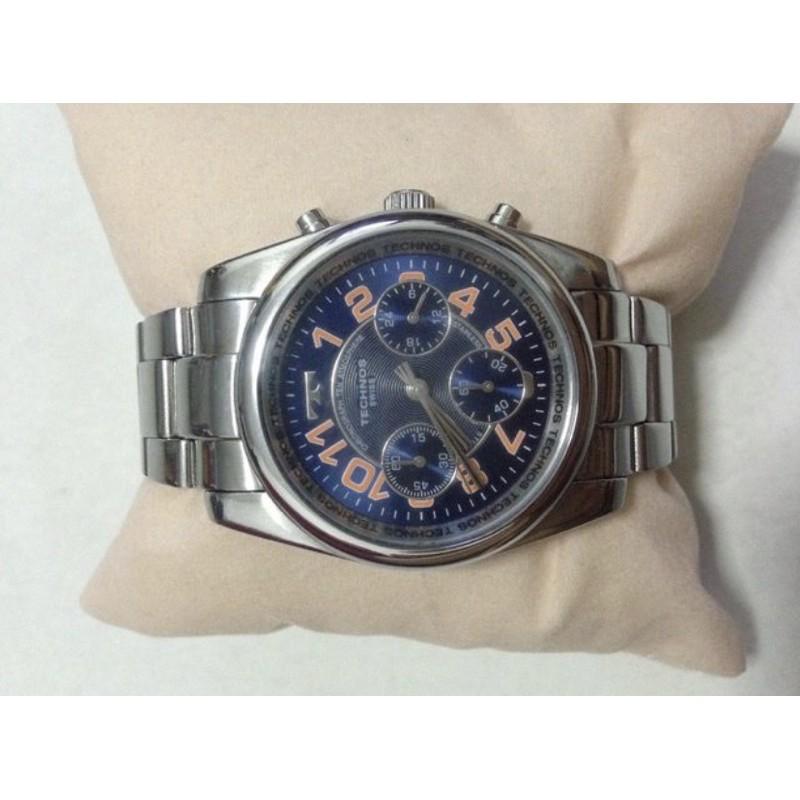 นาฬิกาข้อมือ ยี่ห้อ technos swiss chronogrph TGM 529 all stainless steel