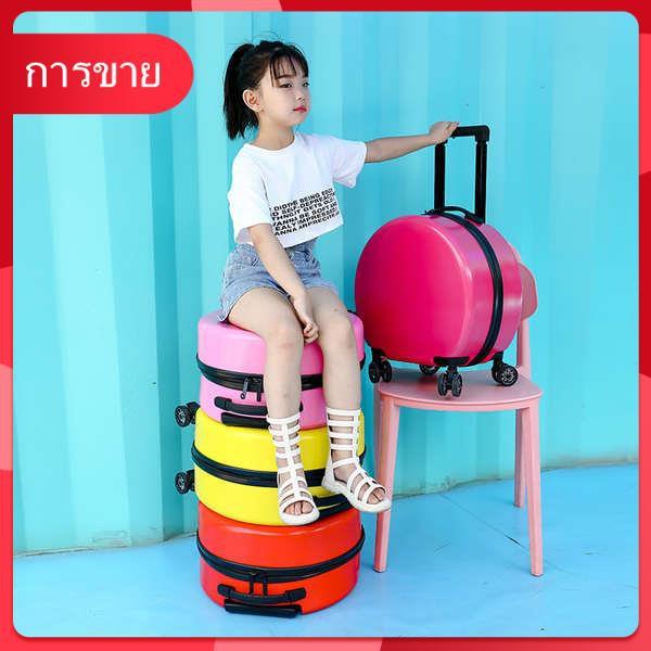 กระเป๋าเด็กผู้หญิงน่ารักการ์ตูนขนาดเล็กรถเข็นกรณี 18 นิ้วรอบกระเป๋าเดินทางเจ้าหญิงหญิงโลโก้ที่กำหนดเอง