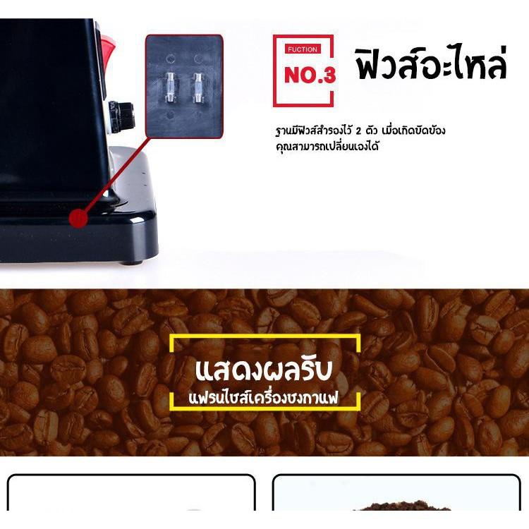 🔥💖🌟●❏Phliplus เครื่องบดกาแฟ เครื่องบดเมล็ดกาแฟ 600N เครื่องทำกาแฟ เครื่องเตรียมเมล็ดกาแฟ อเนกประสงค์