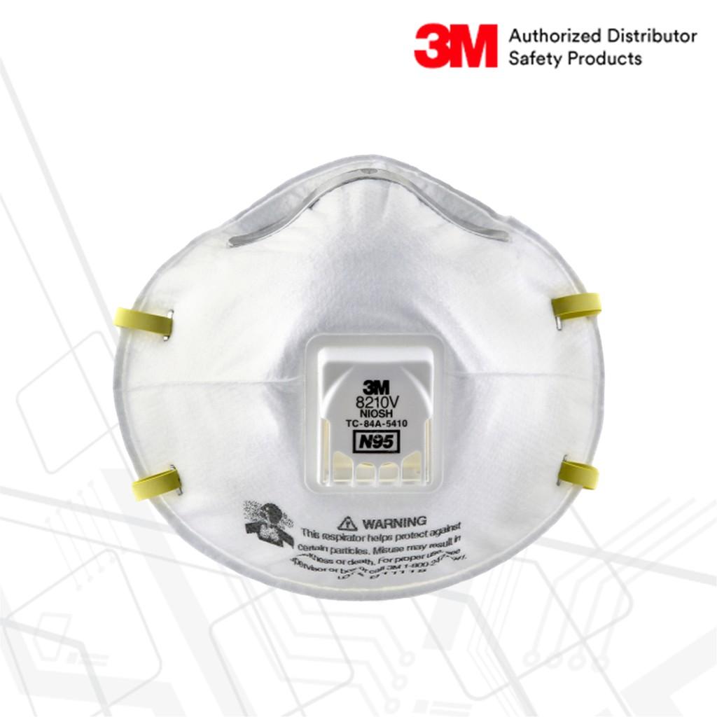 หน้ากากกรองฝุ่น N95 มีวาล์ว รุ่น 8210V 3M™ (10ชิ้น/กล่อง)