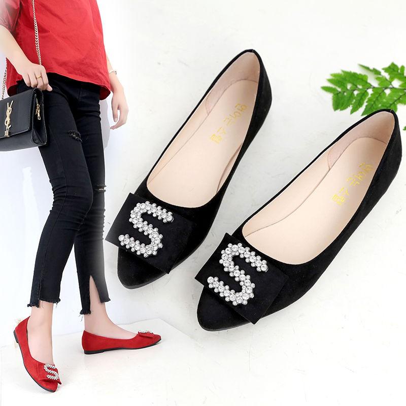 รองเท้าคัชชูหัวแหลม🌱รองเท้าเปิดส้น🌱 ส้นแบนหัวแหลม รองเท้าผู้หญิง ไสตล์เกาหลี รองเท้าส้นแบน รองเท้าทำงาน รองเท้าคัทชูหั