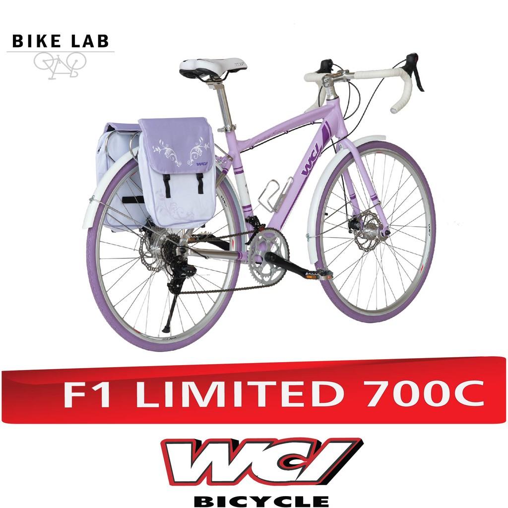 WCI จักรยานทัวริ่ง/มีกระเป๋า ทัวริ่งเสือหมอบ F1 LIMITED 700C  (สีม่วง)