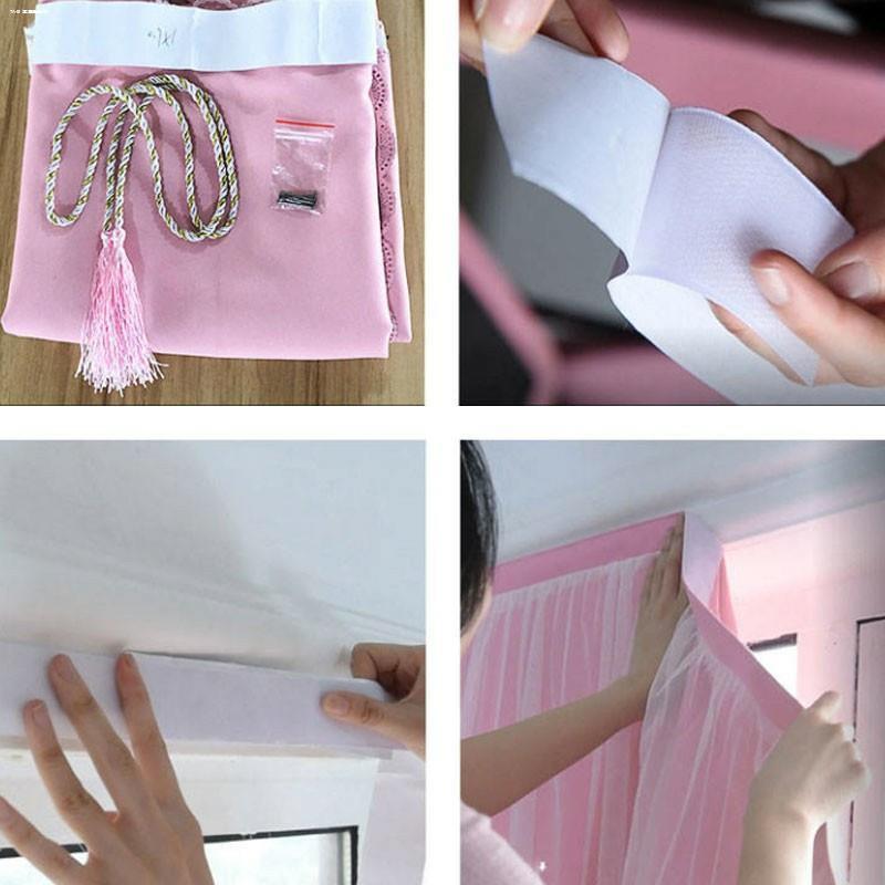 เครื่องใช้ในบ้าน❈┇♣ผ้าม่านประตู ผ้าม่านหน้าต่าง ผ้าม่านสำเร็จรูป ม่านเวลโครม่านทึบผ้าม่านกันฝุ่น ใช้ตีนตุ๊กแก C2S2