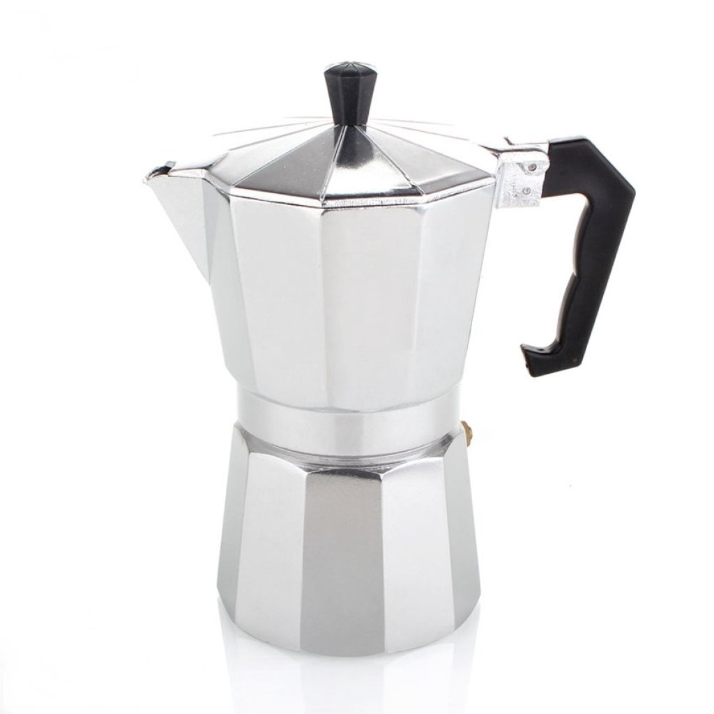 คุณภาพดี moka pot3 cup กาต้มกาแฟสดเครื่องชงกาแฟสด แบบพกพา ใช้ทำกาแฟสดทานได้ทุกที