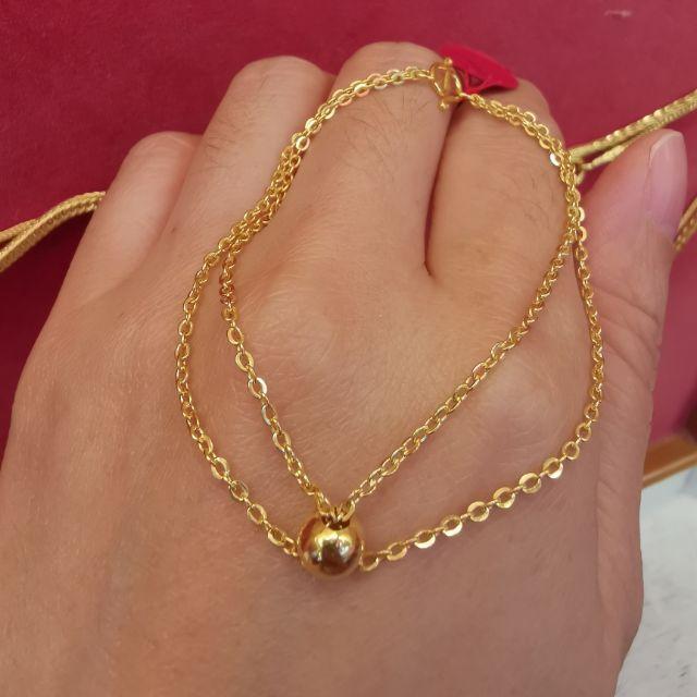##ซื้อเฮงใส่ดี สร้อยมือทอง 96.5%  น้ำหนัก ครึ่งสลึง ยาว 17cm ราคา 4,200บาท