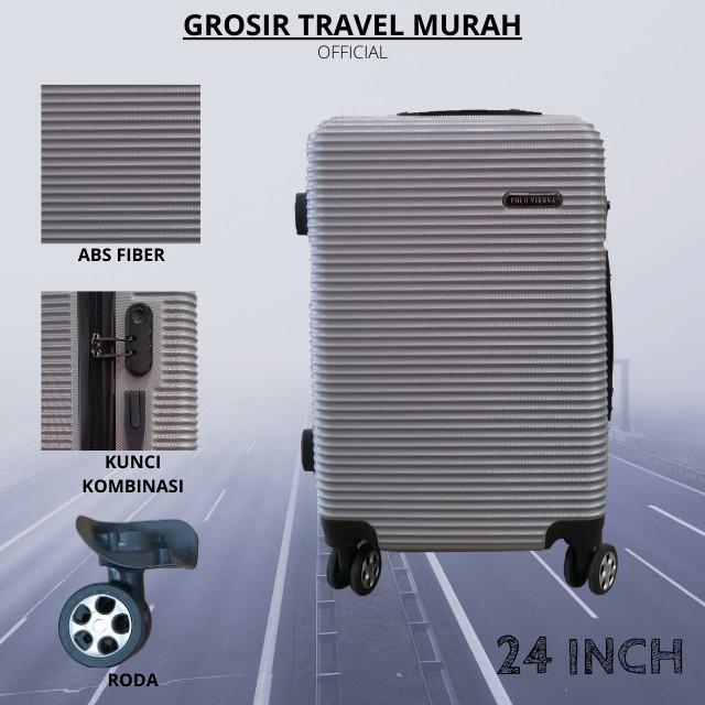 กระเป๋าเดินทางล้อลาก 010 Size 24 นิ้ว Abs 4 Swivel 360 องศา - Polo