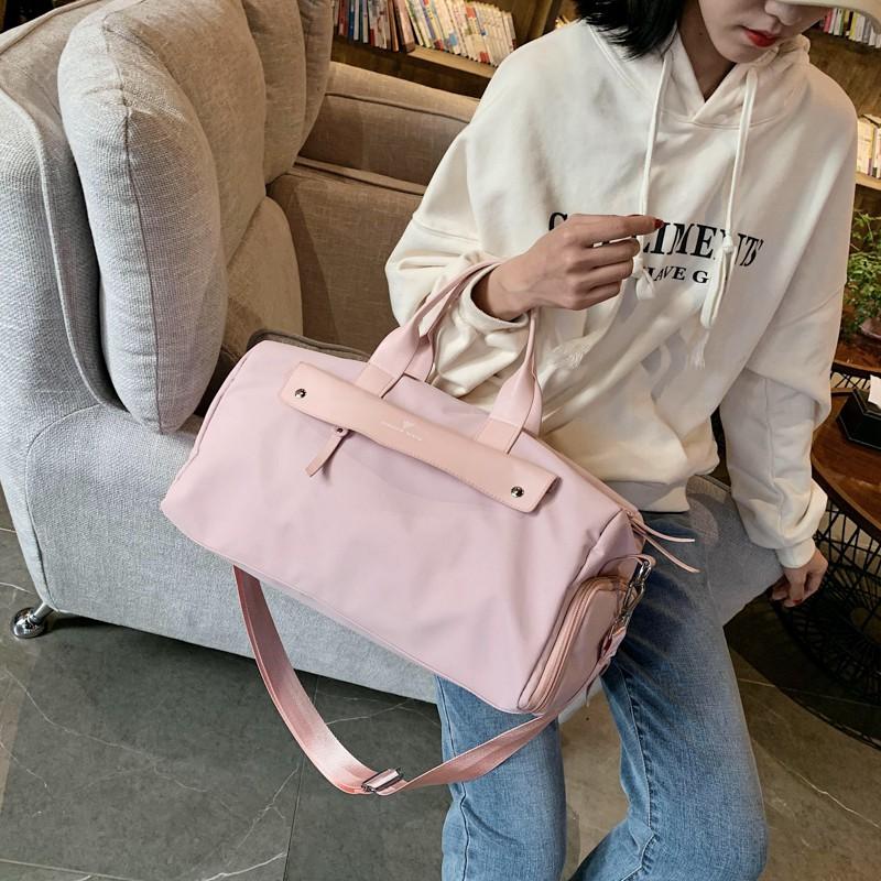 ほ♚Sandro Ifashion กระเป๋ากีฬาหญิงฟิตเนสกระเป๋าใบเล็กว่ายน้ำเดินทางผ้าใบกระเป๋าเก็บกระเป๋าเดินทางระยะสั้น