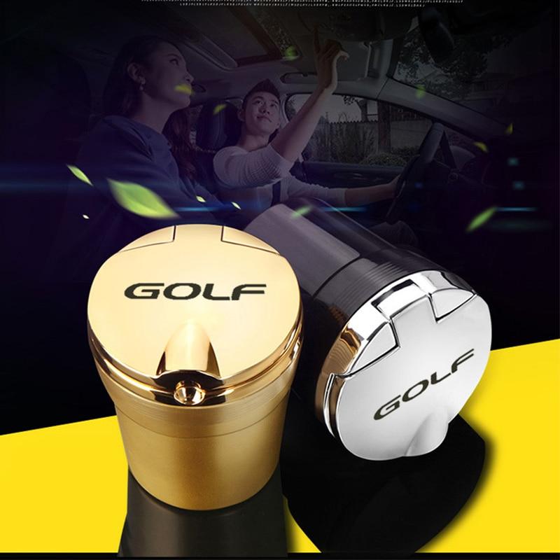 Car Logo Ashtray Cigarette Smoke Holder With Blu-Ray For Volkswagen Golf 4 5 6 7 8 R Mk4 Mk5 Mk6 Mk7 Mk8 Car Accessories