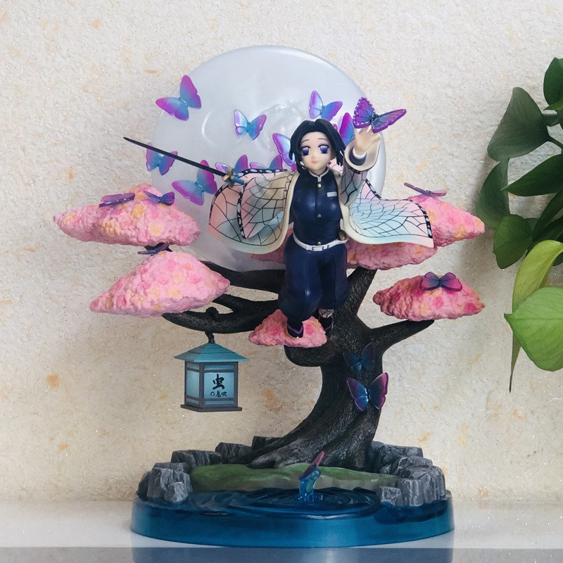 ตัวการ์ตูนอนิเมะสุดเซ็กซี่31cm Anime Figure Demon Slayer Kochou Shinobu VC Action Figure Toy Kimetsu no Yaiba Statue  Co