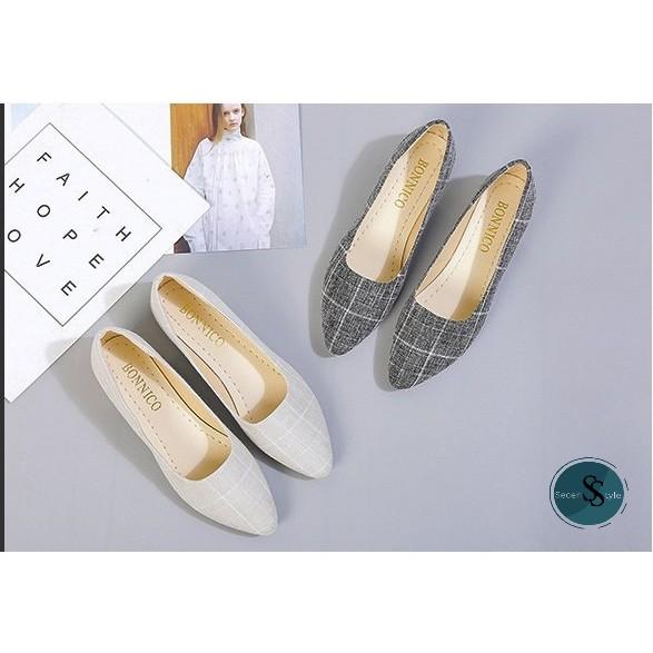เปิดส้น❤️รองเท้าหัวแหลม รองเท้าแฟชั่นผู้หญิง รองเท้าโลฟเฟอร์ คัชชู มีไซส์ รองเท้าคัชชู ส้นเตี้ย รองเท้าแฟชั่น งานดี