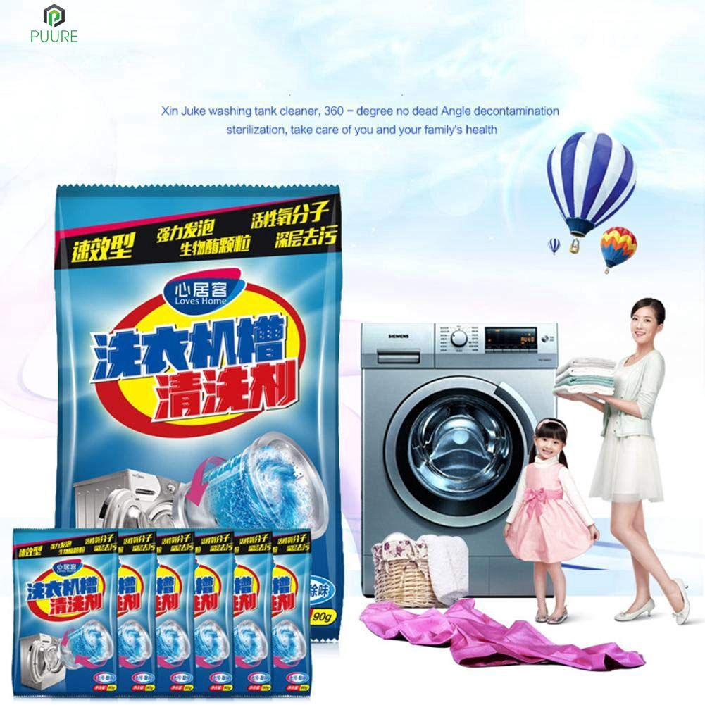 【❥❥】 Powder Washer Cleaner Effective Washing Machine Cleaner Laundry Tank Cleaner 【PUURE】