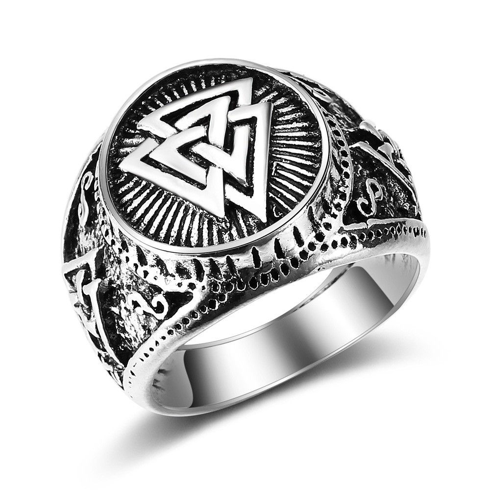 Odin/'s symbole de Norse Viking Warriors 925 Sterling Silver Ring Gothique Punk