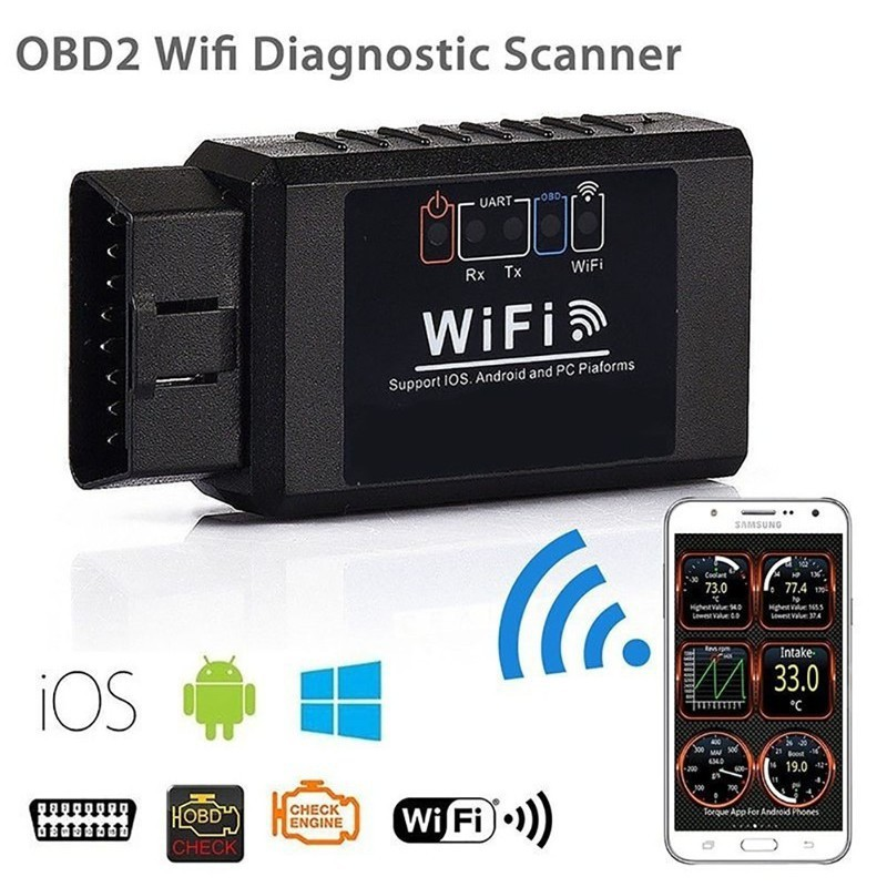 ELM327 WIFI OBD2 OBDII Auto Car Diagnostic Scanner Scan Tool for iOS Android NEW