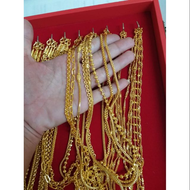 สร้อยคองานเศษทองหนัก1บาทราคา390บาท มีลายมากกว่าในรูป