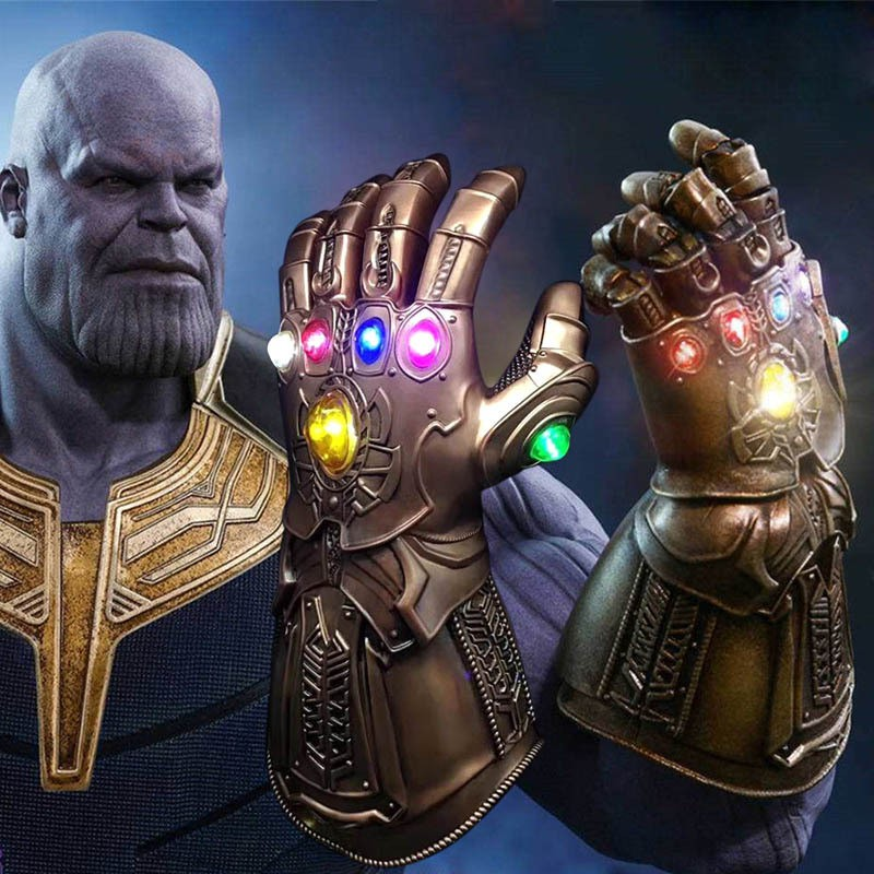 Thanos Infinity Gauntlet LED Light Gloves Cosplay Avengers Infinity War Prop US