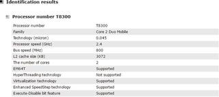 Intel t8300 cpu